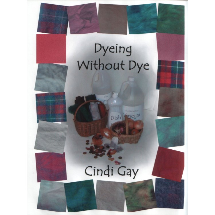 dyeing without dye for rug hooking wool by Cindi Gay