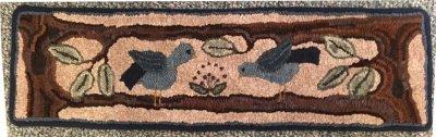 Hooked rug Partners, hooked by Wanda Burleson