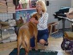 Anne and Jack at rug hooking workshop