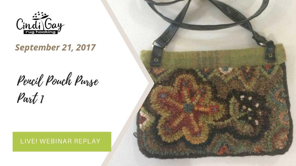 Hooked pencil pouch purse part 1