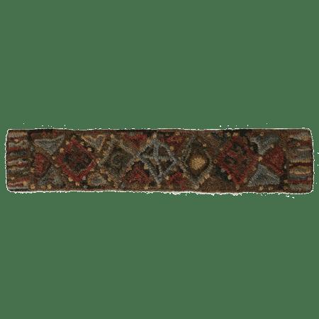 Primitive geometric rug hooking pattern by Cindi Gay