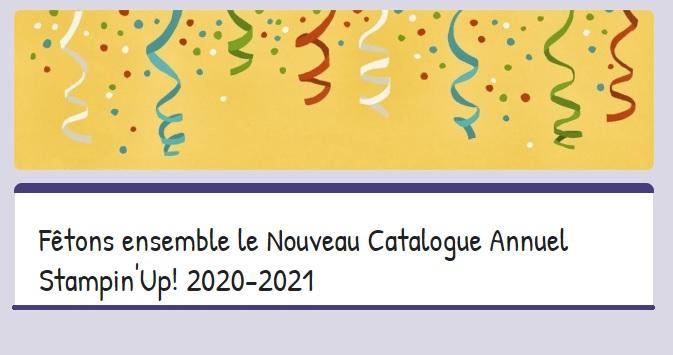 Jeu concours Fêtons ensemble le Nouveau Catalogue Annuel Stampin'Up!
