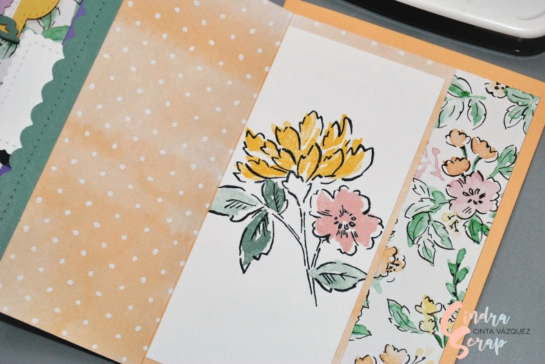 Fun fold card Croquis du jardin