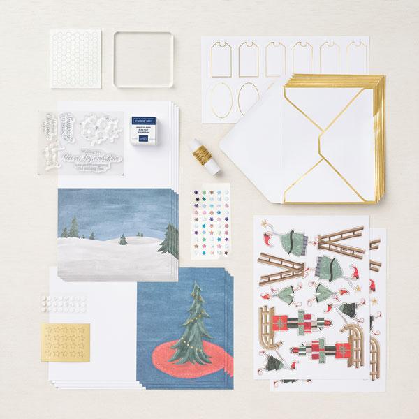 Kit pour cartes Fantaisie de Noël