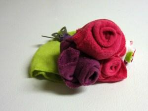 baby washcloth roses set