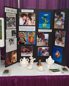 artist-in-the-school booth 2 2102 booking Fair clay class Biles