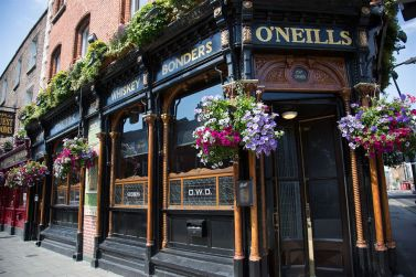 This Dublin Victorian pub specializes in whiskey and scotch. My brother and I did a taste test. Jameson won.