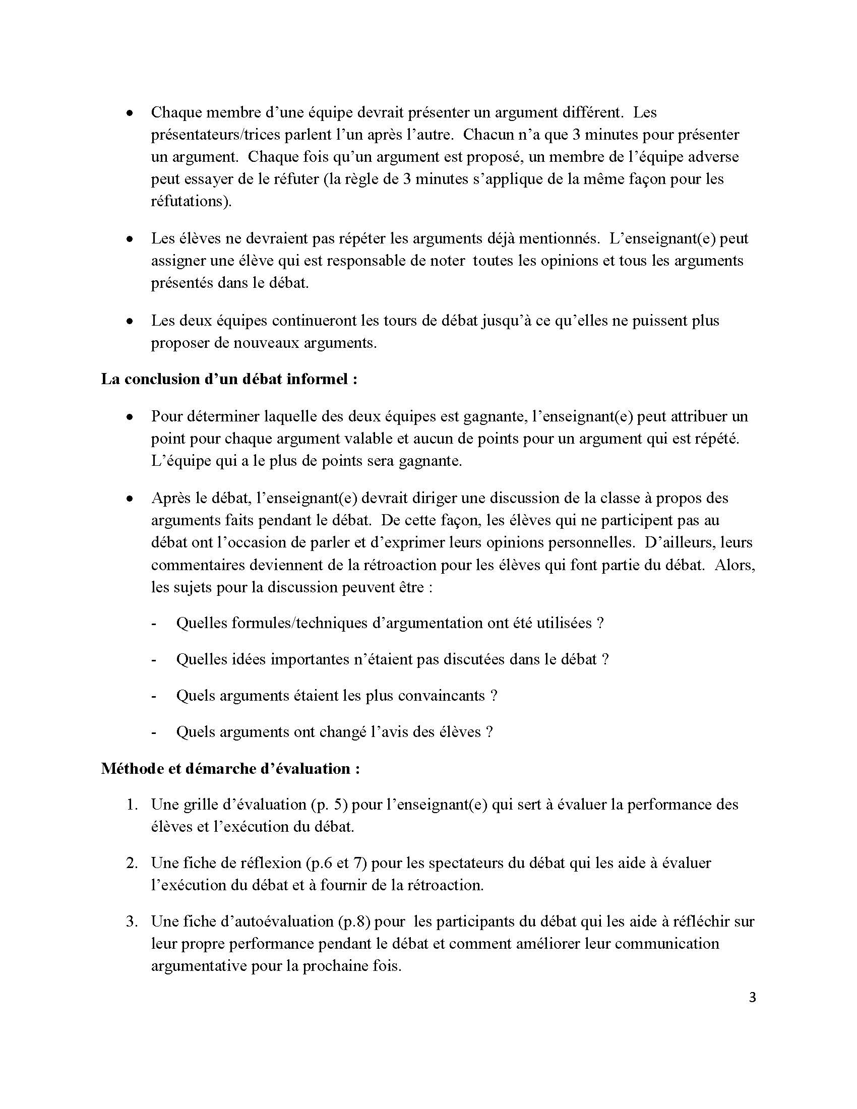 Lesson Plan French Debate Images
