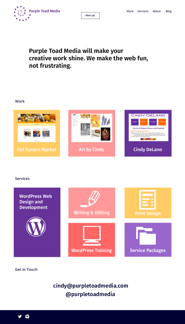 Purple Toad Media Homepage Mockupp