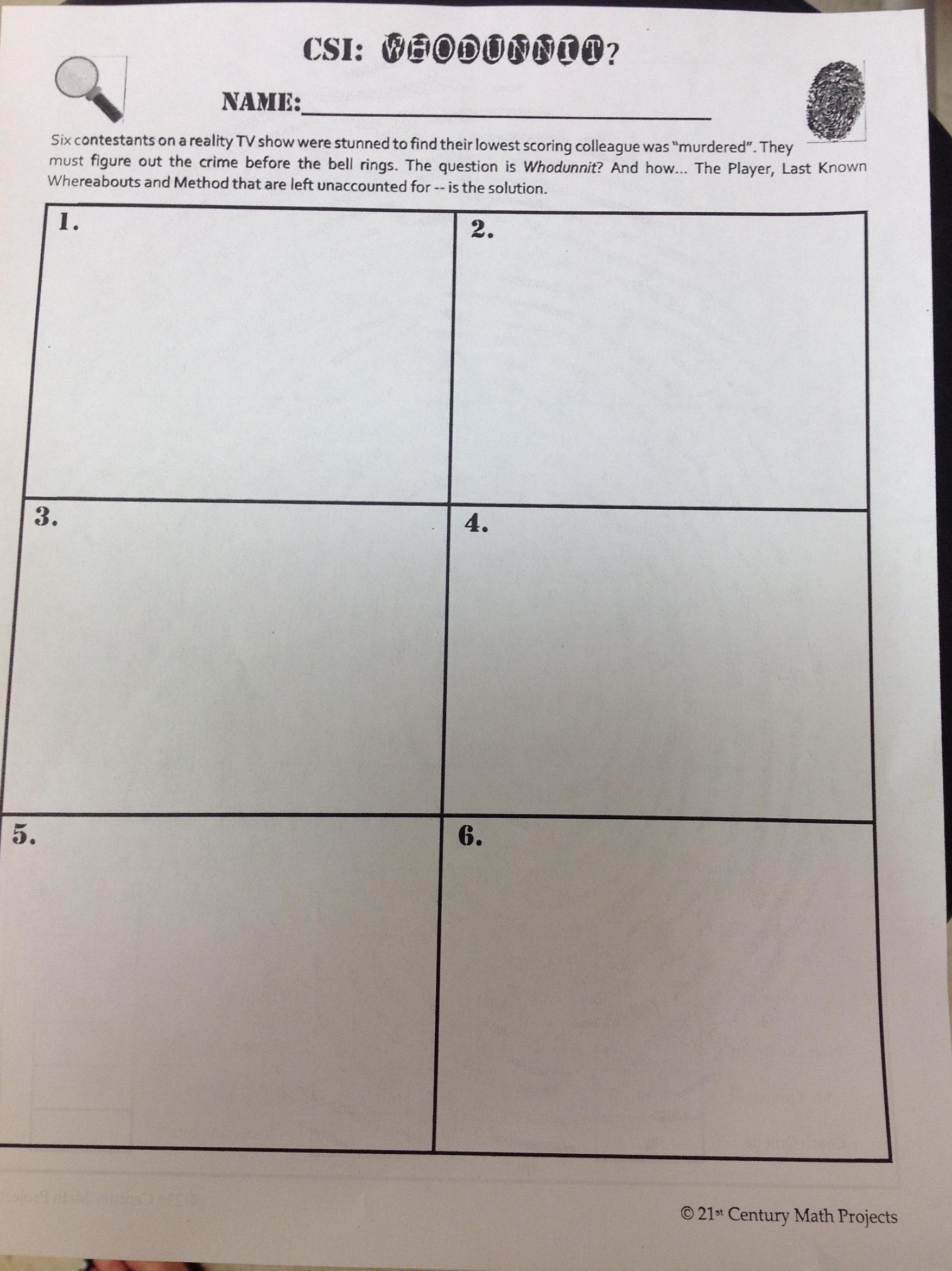 Favorite Math Task