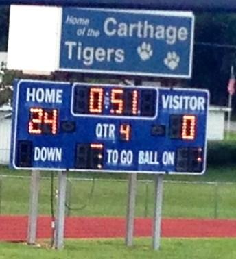 Carthage Tigers scoreboard e