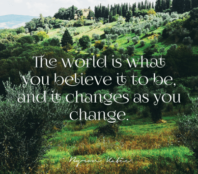 world is what you believe it to be byron katie e