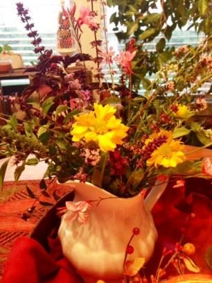 fall arrangement close up