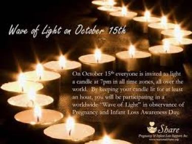 National Preg and Infant Loss Day Wave of Light