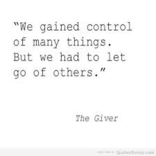 The Giver We gained control