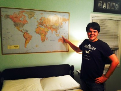 Where in the World map e