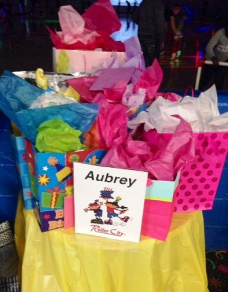 Aubreys birthday party presents
