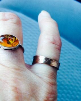 hip handmade market fall copper ring