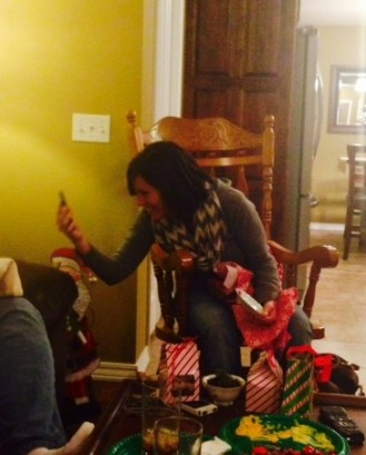 christmas 2014 elissa talking to adriel