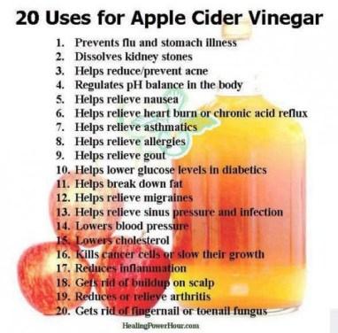 dr oz uses for apple cider vinegar