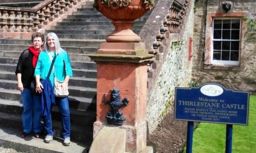 Mindy and Cindy at Thirlestane Castle