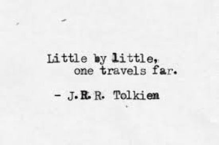 Tolkien Toast little by little
