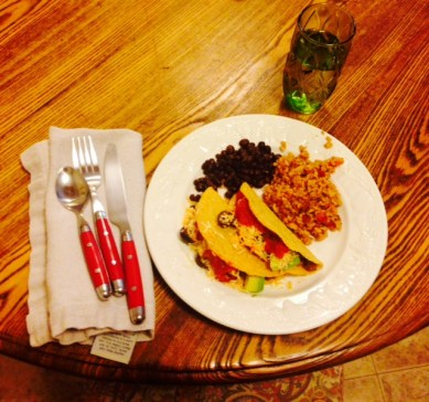 Dinner with Cate taco bar