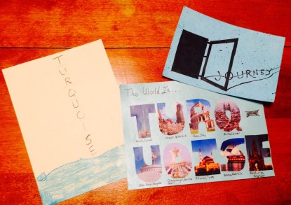 Mail art turquoise all