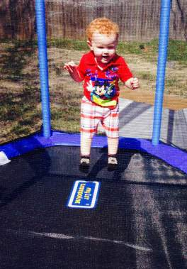 Westons second birthday jumping