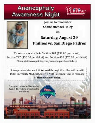 anencephaly awareness ballgame