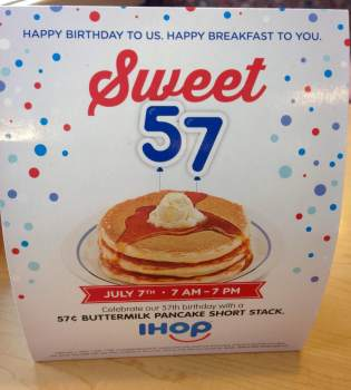 Happy birthday IHOP