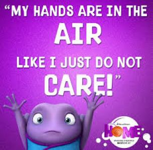 Home hands in the air quote
