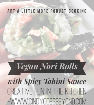 Vegan Nori Rolls with Spicy Tahini Sauce