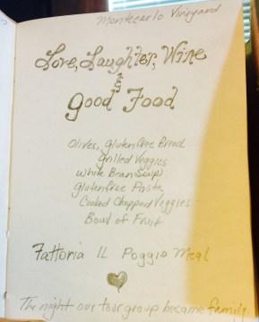 Love, Laughter, Wine & Good Food