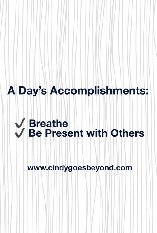 A Day's Accomplishments
