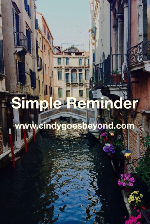 Simple Reminder