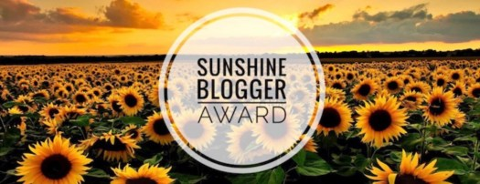 Nominated for the Sunshine Blogger Award
