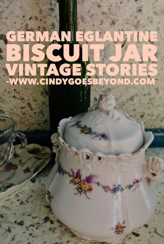 German Eglantine Biscuit Jar