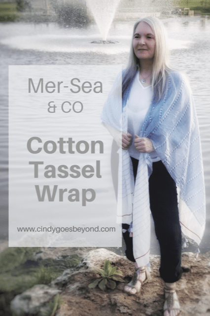 Mer-Sea & CO Cotton Tassel Wrap