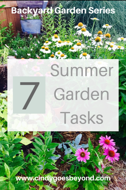 7 Summer Garden Tasks title meme