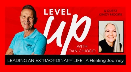 Level Up Podcast Leading an Extraordinary Life Banner