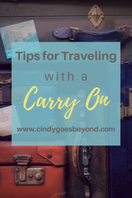 Tips for Traveling with a Carry On Title meme