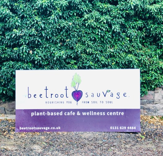 Beetroot Sauvage Cafe sign