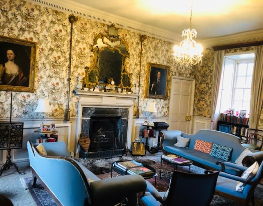 The Blue Sitting Room at Traquair