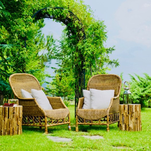 Create a Meditation Area in Your Garden chairs