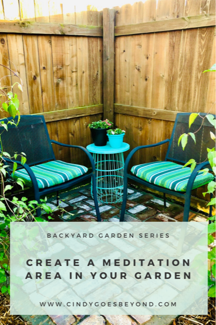 Create a Meditation Area in Your Garden title meme
