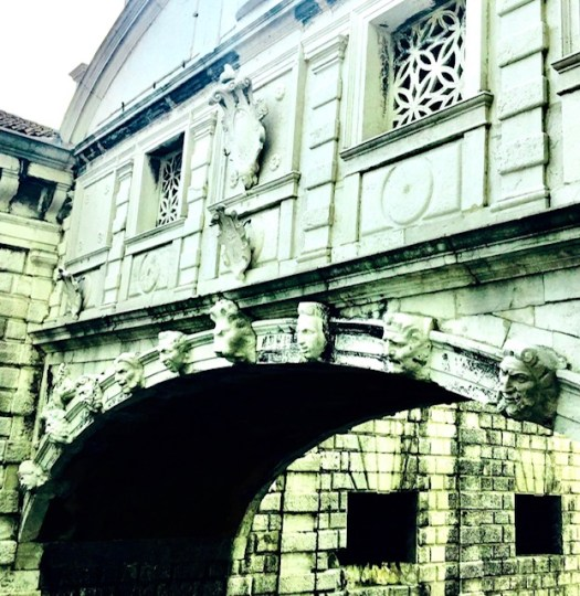 The Bridge of Sighs faces