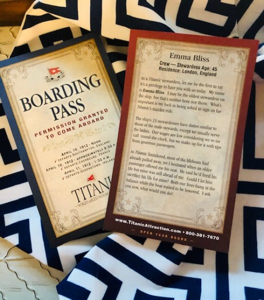 Titanic Museum Branson Missouri boarding pass