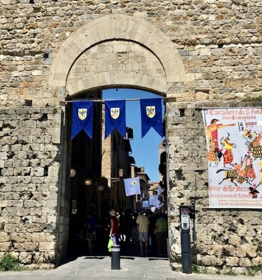 The gate into San Gimignano
