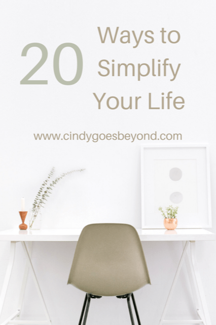 20 Ways to Simplify Your Life title meme